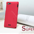 Nillkin Super Matte Hard Cases Covers for Sony Ericsson ST26i Xperia J - Red