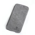 Nillkin leather Cases Holster Covers Skin for Samsung I9260 GALAXY Premier - Gray