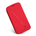Nillkin leather Cases Holster Covers Skin for Samsung I9260 GALAXY Premier - Red