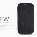 Nillkin leather Cases Holster Covers for Samsung I939D GALAXY SIII - Black