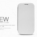 Nillkin leather Cases Holster Covers for Samsung I939D GALAXY SIII - White