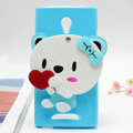 Panda Silicone Cases Mirror Covers Skin for OPPO U705T Ulike2 - Blue
