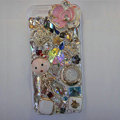 Bling S-warovski crystal cases Flower diamond cover for iPhone 5 - Pink