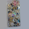 Bling S-warovski crystal cases Flower diamond covers for iPhone 5 - Pink