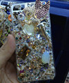 S-warovski crystal cases Bling Ballet girl diamond cover for iPhone 5 - Gold