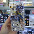 S-warovski crystal cases Bling Flower diamond covers for iPhone 5 - Purple