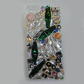 S-warovski crystal cases Bling Panda diamond cover skin for iPhone 5 - Green