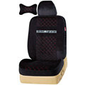 VV camel velvet Custom Auto Car Seat Cover Set - Black