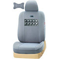 VV vinylon leather Custom Auto Car Seat Cover Set - Gray