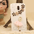 Bling Crystal Case Rhinestone Ballet Girl Cover for Samsung i9250 GALAXY Nexus Prime i515 - Pink