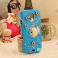 Bling Crystal Case Rhinestone Fish Cover for Samsung i9250 GALAXY Nexus Prime i515 - Blue