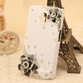 Bling Crystal Case Rhinestone Flower Cover for Samsung i9250 GALAXY Nexus Prime i515 - White
