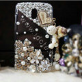 Bling Crystal Case Rhinestone Flowers Cover for Samsung i9250 GALAXY Nexus Prime i515 - White