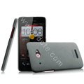 IMAK Cowboy Shell Hard Case Cover for HTC X920e Droid DNA - Gray