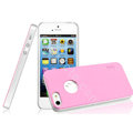 IMAK Matte double Color Cover Hard Case for iPhone 5 - Pink