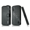 IMAK Slim leather Case holder Holster Cover for LG E960 Nexus 4 - Black