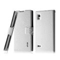 IMAK Slim leather Case holder Holster Cover for LG P765 Optimus L9 - White