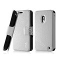 IMAK Slim leather Case holder Holster Cover for Nokia Lumia 620 - White