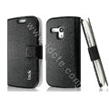 IMAK Slim leather Case holder Holster Cover for Samsung I8190 GALAXY SIII Mini - Black