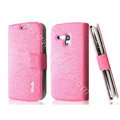IMAK Slim leather Case holder Holster Cover for Samsung I8190 GALAXY SIII Mini - Pink