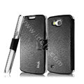 IMAK Slim leather Case holder Holster Cover for Samsung I9260 GALAXY Premier - Black