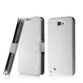 IMAK Slim leather Case holder Holster Cover for Samsung N7100 GALAXY Note2 - White