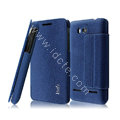 IMAK THE NEIL leather Case support holster Cover for Huawei U8950D C8950D G600 - Blue