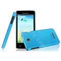 IMAK Ultrathin Matte Color Cover Hard Case for Lenovo A765e - Blue