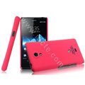IMAK Ultrathin Matte Color Cover Hard Case for Sony Ericsson LT30p Xperia T - Rose