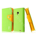 IMAK cross leather case Button holster holder cover for MEIZU MX2 - Green