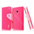 IMAK cross leather case Button holster holder cover for MEIZU MX2 - Rose