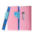IMAK cross leather case Button holster holder cover for Nokia Lumia 920 - Pink