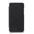 Nillkin England Retro Leather Case Holster Cover for HTC X920e Droid DNA - Black