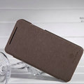 Nillkin England Retro Leather Case Holster Cover for HTC X920e Droid DNA - Brown