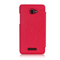 Nillkin England Retro Leather Case Holster Cover for HTC X920e Droid DNA - Red