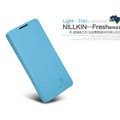 Nillkin Fresh leather Case button Holster Cover Skin for Coolpad 8730 - Blue