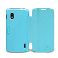 Nillkin Fresh leather Case button Holster Cover Skin for LG E960 Nexus 4 - Blue