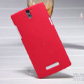 Nillkin Super Matte Hard Case Skin Cover for OPPO X909 Find 5 - Red