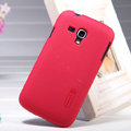 Nillkin Super Matte Hard Case Skin Cover for Samsung I8262D GALAXY Dous - Red