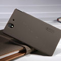 Nillkin Super Matte Hard Case Skin Cover for Sony Ericsson L36i L36h Xperia Z - Brown