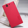 Nillkin Super Matte Hard Case Skin Cover for Sony Ericsson L36i L36h Xperia Z - Red