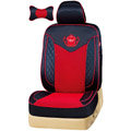 VV Lyocell mesh Custom Auto Car Seat Cover Set - Black Red
