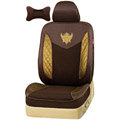 VV Lyocell mesh Custom Auto Car Seat Cover Set - Coffee