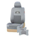 VV Menes mesh Custom Auto Car Seat Cover Set - Gray