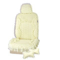 VV lace microfiber Custom Auto Car Seat Cover Set - Beige