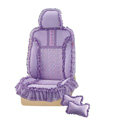 VV lace microfiber Custom Auto Car Seat Cover Set - Purple