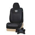 VV velvet mesh Custom Auto Car Seat Cover Set - Black