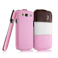IMAK Chocolate Series leather Case Holster Cover for Samsung Galaxy SIII S3 I9300 I9308 I939 I535 - Pink