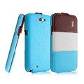 IMAK Chocolate Series leather Case Holster Cover for Samsung N7100 N719 GALAXY Note2 - Blue