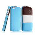 IMAK Chocolate Series leather Case Holster Cover for iPhone 5 - Blue
